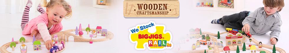 Kolejki drewniane Bigjigs