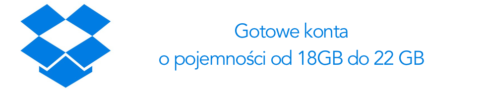 DROPBOX GOTOWE KONTA