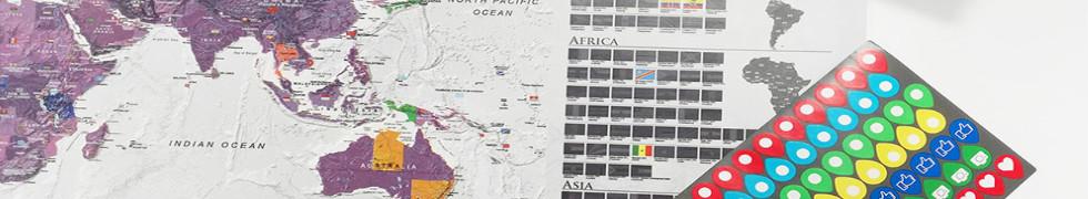 Mapy zdrapki świata