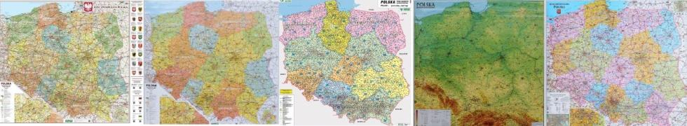 Mapy ścienne Polski