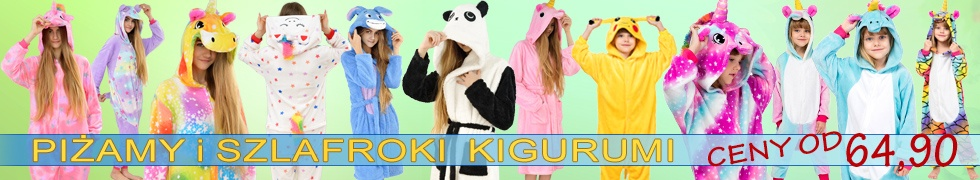 Piżamy szlafroki Kigurumi